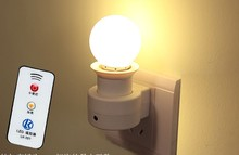 E27 Lamp Bases With Remote Controller + 3W LED Light Bulb 160-250V 40W 50/60HZ(China)