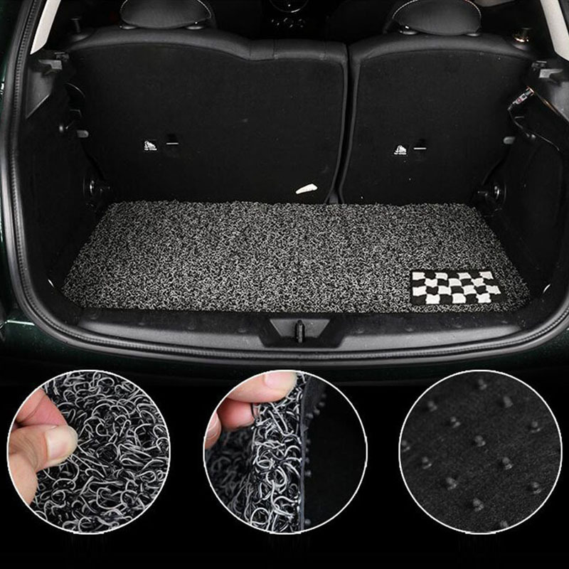 лучшая цена PVC Loop Car Auto Floor Rear Trunk Boot Mat Cargo Liner Protected For Mini Cooper JCW Countryman Paceman Car Styling Accessories