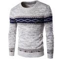 Hombres suéter 2017 Suéteres de la Marca Suéter Ocasional Masculina Tejer Suéteres Para Hombre Hombre Suéter del O-cuello Patrón Geométrico Slim Fit Hombres R