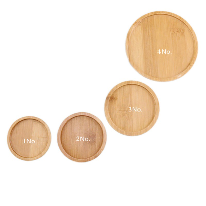 1 pc Square Bamboo Flower Pot Tray 3
