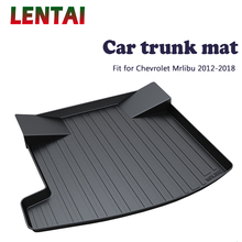 EALEN 1PC Car rear trunk Cargo mat For Chevrolet Malibu 2012 2013 2014 2015 2016 2017 2018 Car Boot Liner Tray Anti-slip mat for lada largus 2012 2018 trunk mat floor rugs non slip polyurethane dirt protection interior trunk car styling