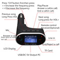 LCD Wireless Bluetooth Car Kit MP3 Player FM Transmitter Modulator USB SD Remote Hands Free  Modulator