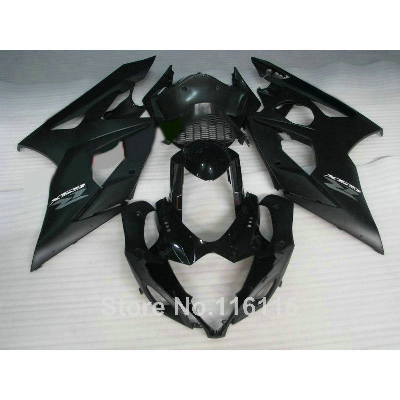 Injection molding fairings for SUZUKI K5 K6 GSXR 1000 2005 2006 all black fairing kit GSXR1000 05 06 motobike set UG54 abs full fairing kit for suzuki injection molding k5 gsxr1000 2005 2006 red flames black fairings set gsxr 1000 05 06 yq67 cowl