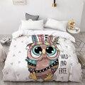 Пододеяльник 3D HD на заказ  одеяло/Чехол Queen/King  мультяшное постельное белье с милой индийской совой для малышей/детей/мальчиков/девочек