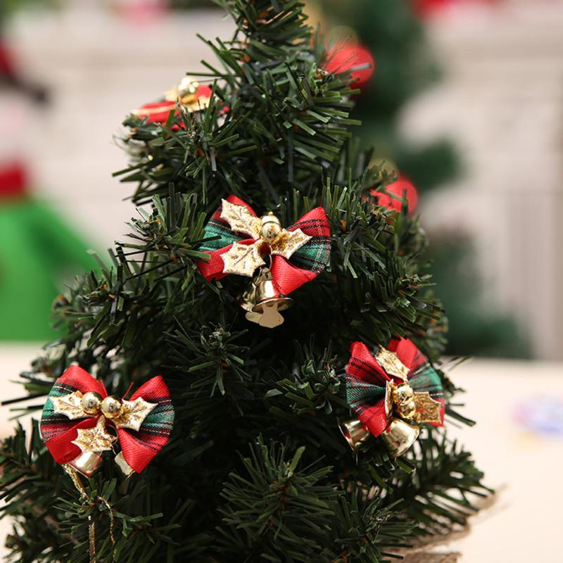 10pcs Christmas Bow Christmas Tree Bow Decoration
