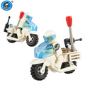 2 peças Pequenos Tijolos série Variável Criança Blocos de Construção de brinquedo do menino modelo DIY Kit de Montagem de brinquedos de Presente de Aniversário Da Motocicleta Da Polícia