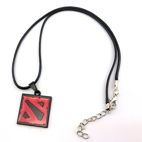 9pcs Anime Game Dota 2 Aghanim's Scepter God Rod Pendant Necklace Rings Keychain Cosplay Jewelry Accessories for Party Halloween 3