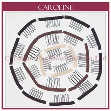 Wig Accessories,Hair Wig Cap Combs and Clips For Wig Cap,2 colors,Black,Light yellow,Small size,6 teeth,30pcs/Lot,Free shipping