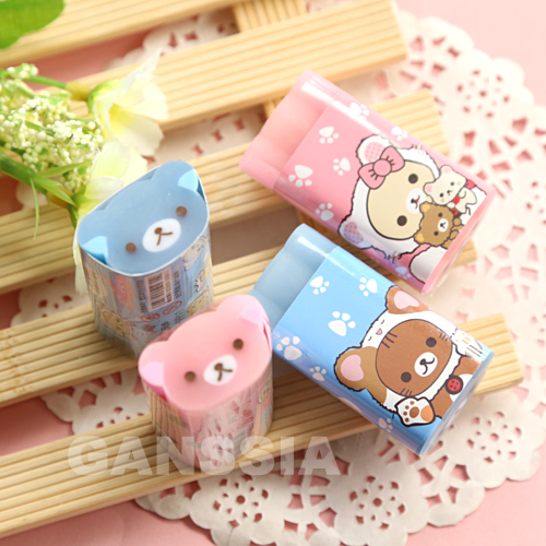 (1pc/lot) Kawaii Animal Series Eraser Creative Stationery Erasers Rubber School Student Learning Supplies (ss-1394)