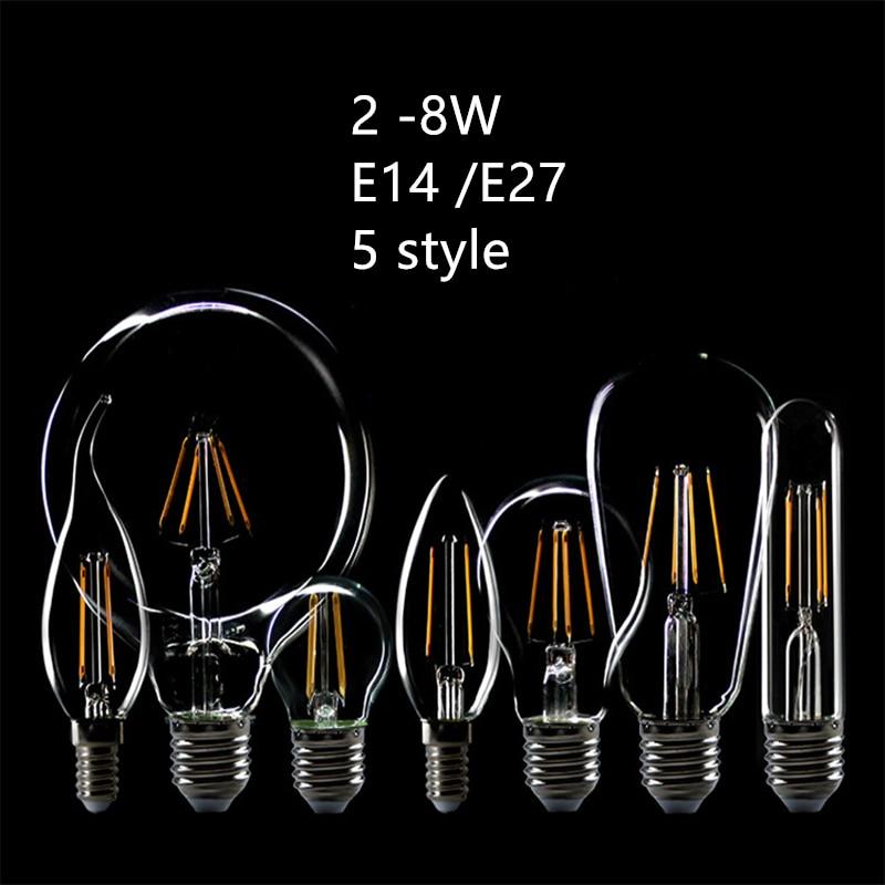 LightInBox industrial wind LED tungsten lamp 220V E27  E14 candle chandelier light ball bubble bulb Edison light bulb Glass bulb