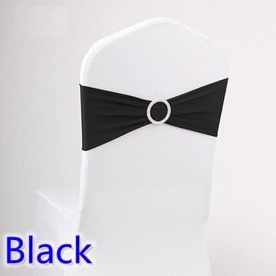 Черный цвет свадебная председатель створки спандекс группа с алмазной пряжкой для стульев лайкра галстук-бабочка спандекс створки лентой ...