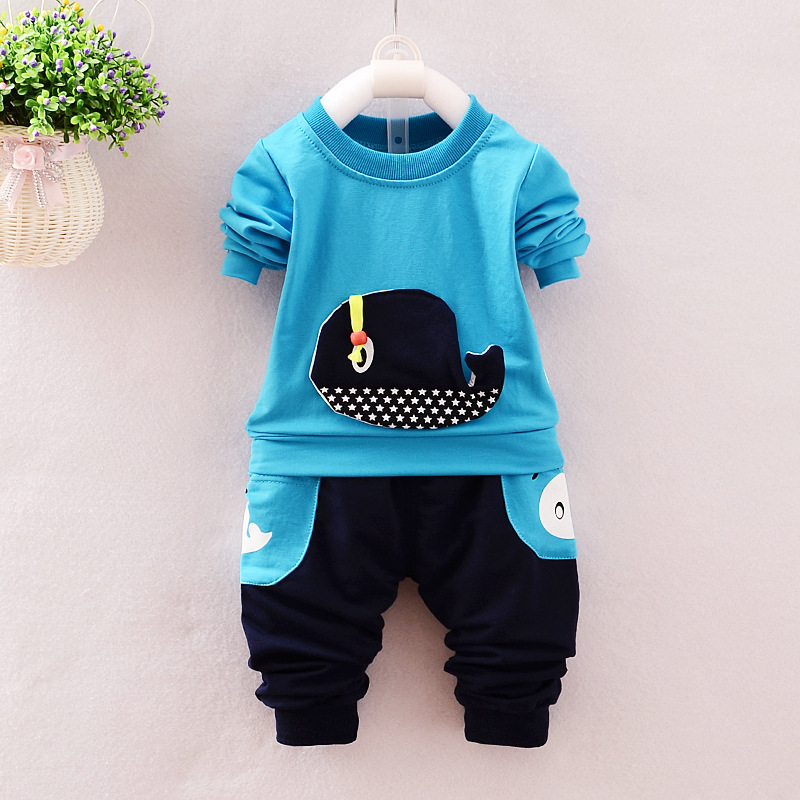 Baby Boy Clothes 2017 New Brand Infant Clothing Cute Long Sleeve T-shirts Tops + Pants Outfits Kids Bebes Jogging Suit Tracksuit