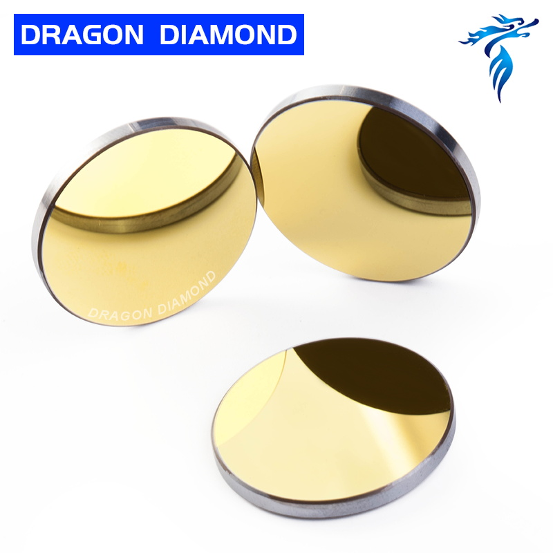 3pcs Si mirror Diameter 19.05mm 20mm 25mm 30mm 38.1mm CO2 laser parts mirror for co2 laser cutter engraver machine mirror mount adjustable co2 laser mirror 25mm mount for reflective lens engraver cutter