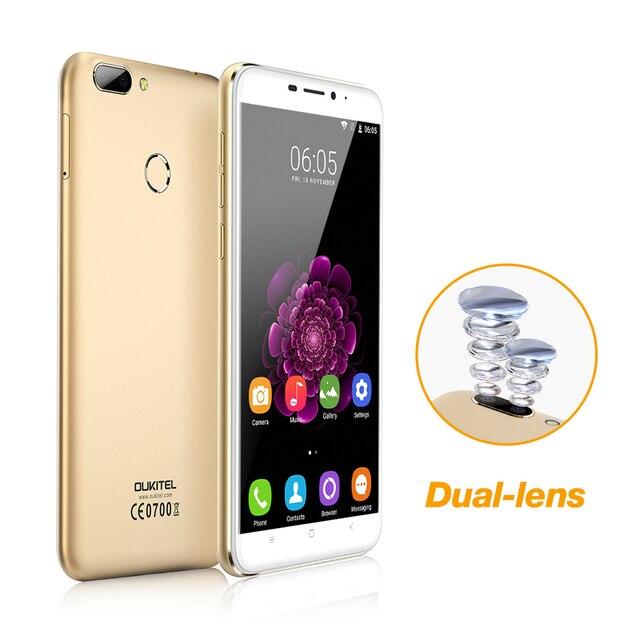 "Dual Camera Oukitel U20 Plus Mobile phone 5.5"" IPS FHD 1080P MTK6737T Quad Core  Fingerprint ID 13MP 3200mah Smartphone U20 Plus"