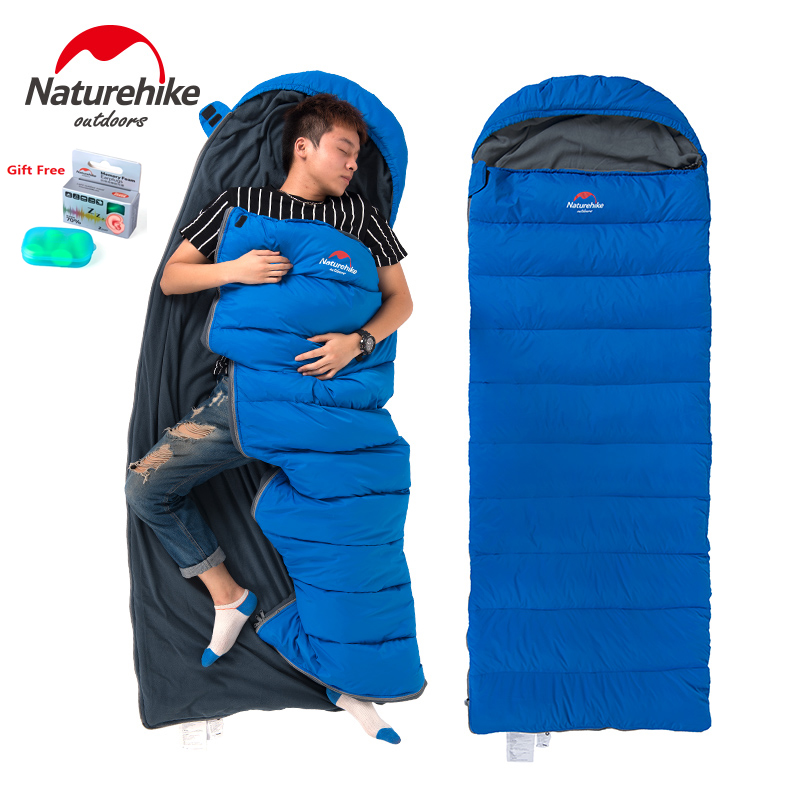 Naturehike factory Envelope down Sleeping Bag winter Camping sleeping bags down feather with thick warm duvet adult sleeping bag hewolf outdoor sleeping bag envelope thick warm autumn and winter camping adult sleeping bag ultralight duvet