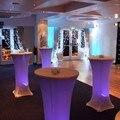 O Envio gratuito de 6 unidades/lotes Lycra Cobertura Bar Seco Cocktail Tampa de Tabela Toalha de Mesa Para O Casamento Event & Decoração Festa Banquete Decoração