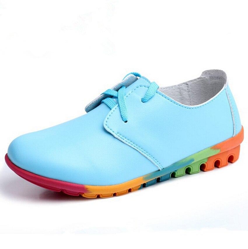 Colorful fashion font b women s b font leisure shoes font b women b font genuine