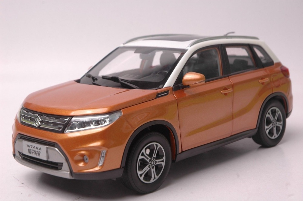1 18 diecast model for suzuki vitara 2016 orange suv rare alloy toy car collection gifts gran 1. Black Bedroom Furniture Sets. Home Design Ideas
