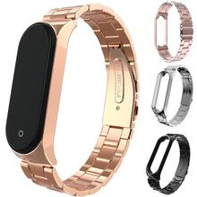 smart watch Replacement Adjustable Clasp Smart Wrist Strap Watchband for Mi Band 3/4 Screwless Stainless Steel Bracelet