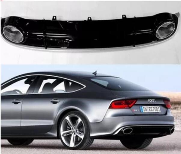 ABS Car <font><b>Rear</b></font> Bumper Lip, Auto Car <font><b>Rear</b></font> <font><b>Diffuser</b></font> ,Car Outlet Exhaust Pipe Tips Muffler For <font><b>Audi</b></font> <font><b>A7</b></font> S7 RS7 2016 2017 2018 2019 image