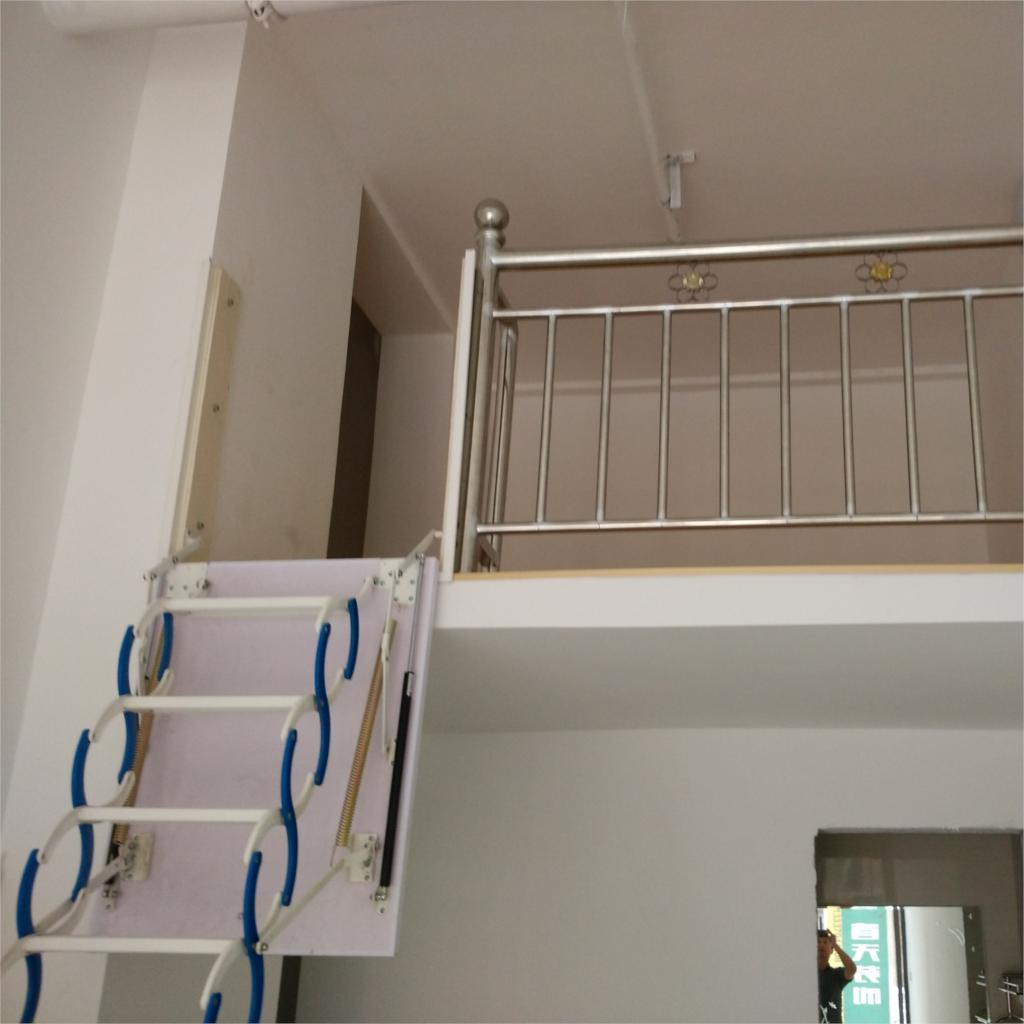 Folding Staircase Side Mounted Retractable Attic Stair Indoor Stair Staircase Villa