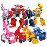 2017 Newest Big Deformation Armor Super Wings Rescue Robot Action Figures Super Wing Transformation Fire Engines