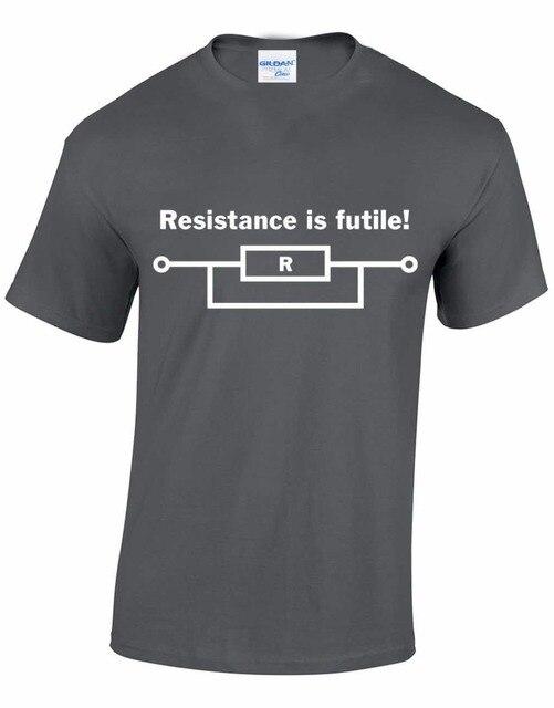 0821ea6d65 2019 Novidade Criativa Criar Camiseta Camisa Dos Homens T de resistência É  Inútil Eletrônica Star Trek