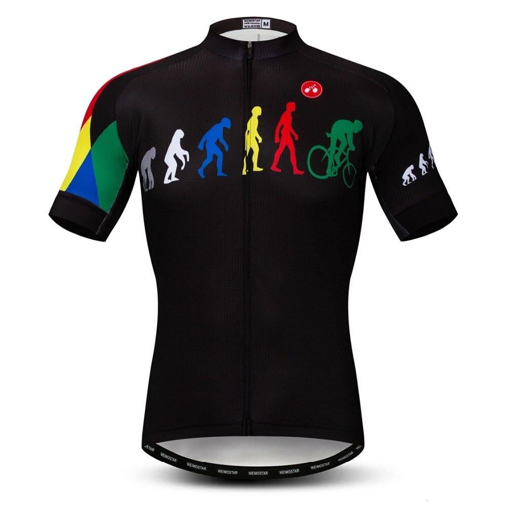 2019 cyclisme maillot hommes VTT maillot Pro vtt vélo chemises à manches courtes route hauts Ropa Ciclismo course vêtements noir