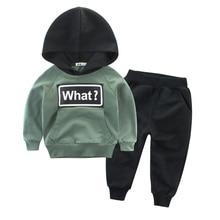 Children Kids Boys Girls Clothing Sets Winter Sets Hooded Coat Suits Cotton Baby Sweatshirts + Pants Sports Clothes Set цена 2017