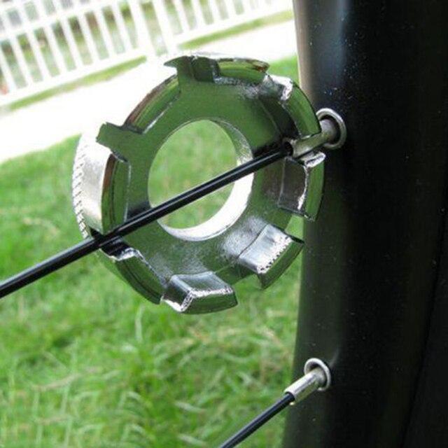 8 Way Wheel Rim Nipple Spanner Spoke Wrench Steel Adjuster Key Tool For Cycling