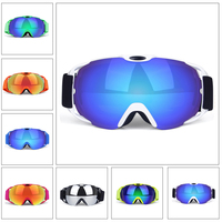 MARSNOW Large Spherical Ski Goggles Double Lens Anti fog Eyewear Men Women Snowboard UV400 Glasses Professional Snowmobile Mask
