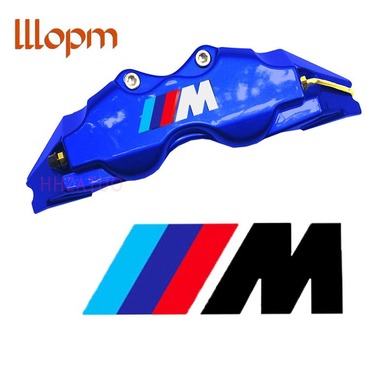 2x автомобиль наклейки для BMW ф20 ф22 ф30 ф10 е36 Е46 Е39 е90 е60 аксессуары высокого качества тормозной суппорт наклейка логотип M эмблема