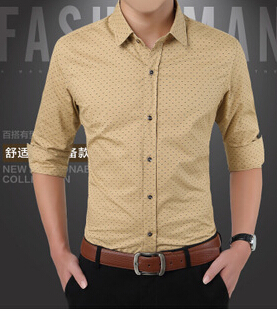 New Long Sleeve Shirt Men 2017 Autumn Polka Dots Mens Office Clothes Designer Shirts Male Clothing Fls 207 In Casual From S