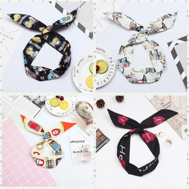 And Great Variety Of Designs And Color Beautiful 1 Pc Fashion Bezel Women Girls Bohemian Printed Rabbit Ear Bandage On The Head Female Chic Cross Beach Hairband Hair Accessories Famous For High Quality Raw Materials Full Range Of Specifications And Sizes