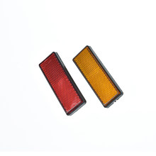 Back Reflective Board Mountain MTB Bicycle Rack Tail Safety Warning Lamp Cycling Bike Rear Reflector Light Red Orange 87*32*9mm(China)