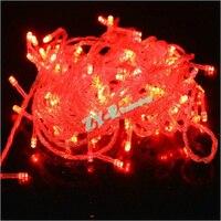 50 шт. 20 м 110 В/220 В 200 светодиодов праздник строка свет рождественской вечеринки красочные огни строки с мужской и Женский Connector по DHL