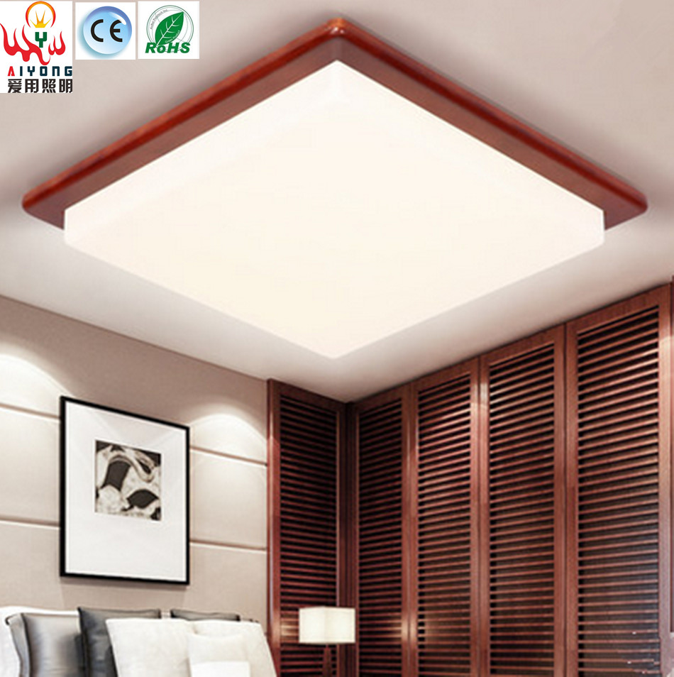 Indoor decorative led ceiling lights wall lamps china led ceiling - Modern Acrylic Square Led Ceiling Lamps Wood Chinese Style Living Room Balcony Aisle Corridor Lamp Decoration