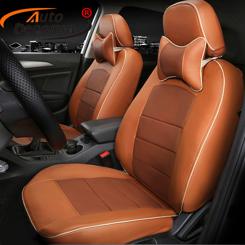 AutoDecorun personal tailor cover seats for Acura rdx 2010 seat covers accessories PU leather car seats cushion covers supports