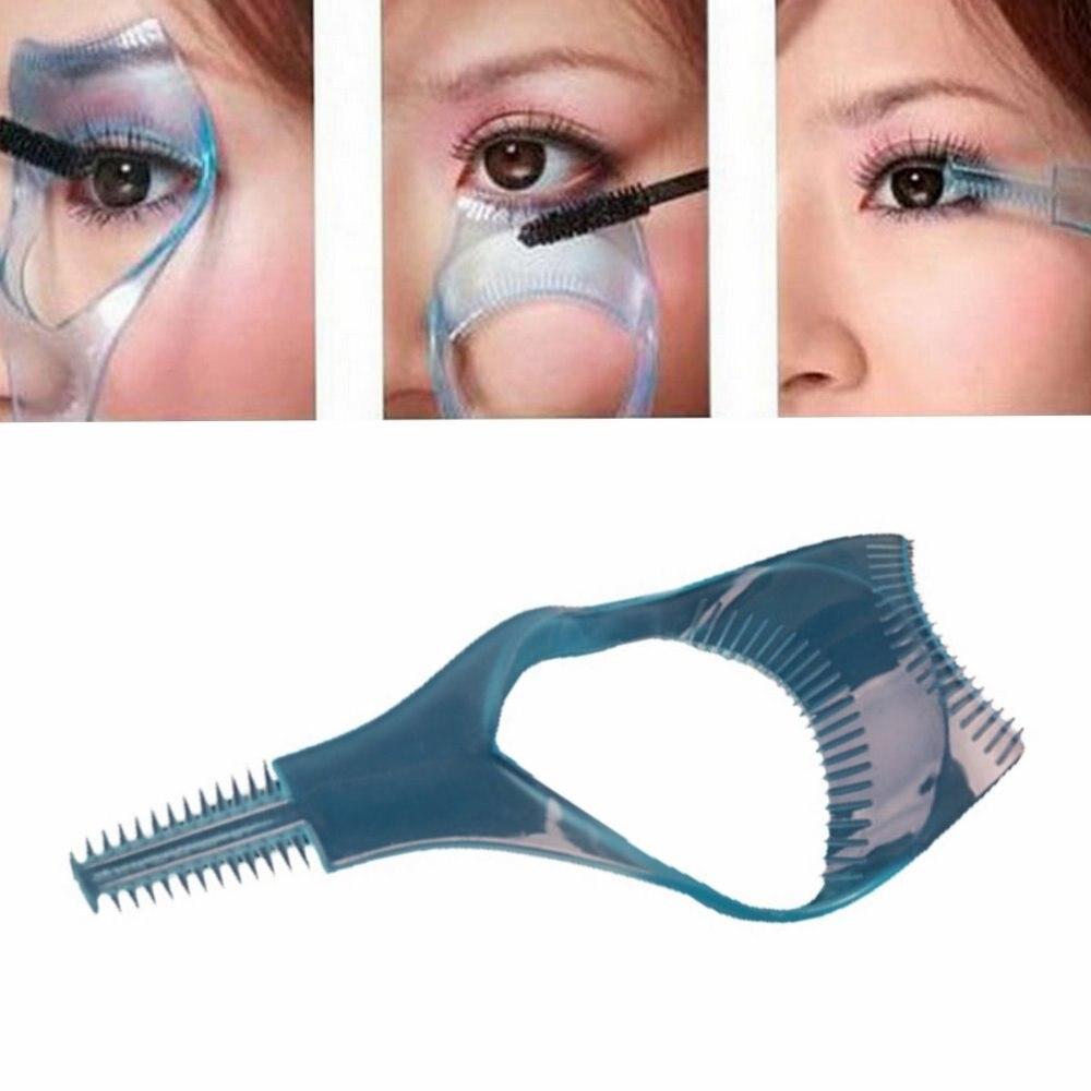 3 in 1 Eyelash Stencils Mascara Applicator Guide Tool Eye Lash Comb Makeup Helper for Women Maquiagem Eyes Beauty Accessories покрасить ресницы в синий