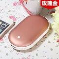 USB Backup Móvel Externo banco de potência portátil além de aquecimento mão mais quente duplo liga superfícies com baterias de polímero de 5200 mah