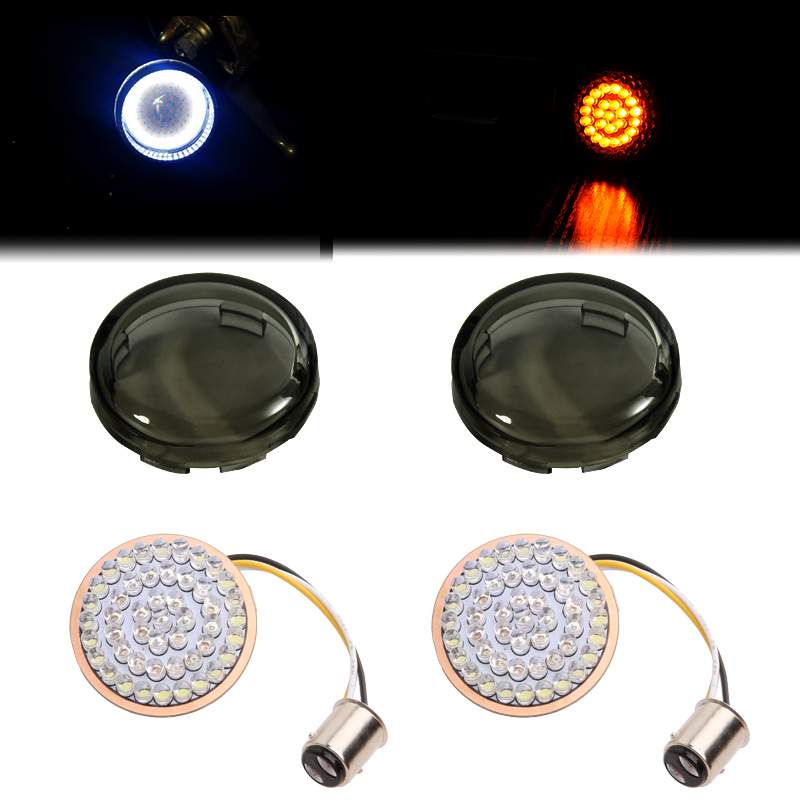 2 Amber White 1157 LED Front Turn Signal Inserts Bullet Style for Harley 2017 Street Glide Special2 Amber White 1157 LED Front Turn Signal Inserts Bullet Style for Harley 2017 Street Glide Special
