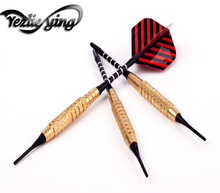 3pcs high quality 18g copper, aluminum shaft soft tip darts toy outdoor practice electronic darts