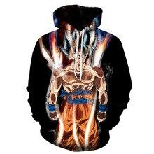 Hoodies Dragon Ball Pocket Hooded Sweatshirts 3D Pullovers Men Women Outerwear Hoodie