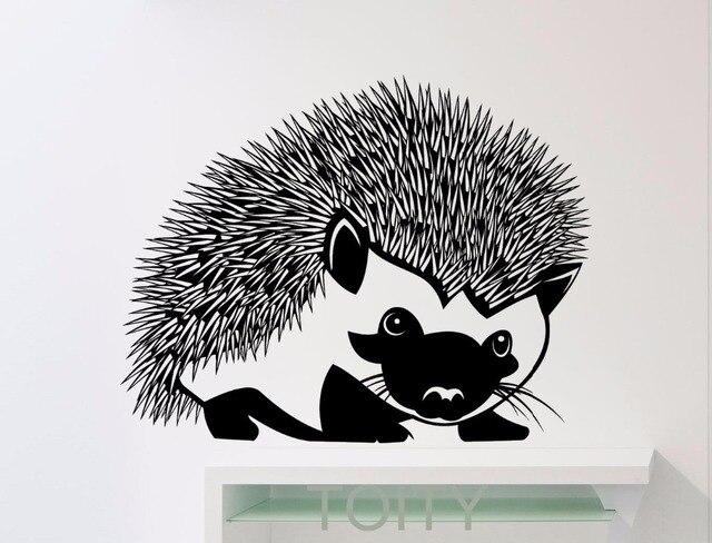 Hedgehog wall sticker animals vinyl decal home kids girl nursery room interior decoration cool black art