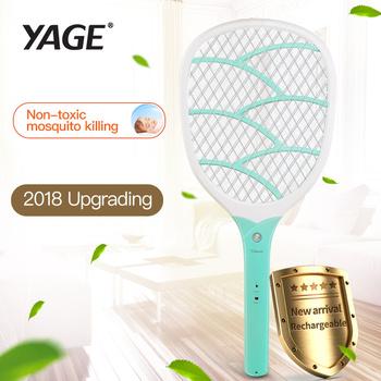 YAGE USB elektryczny packa na komary odstraszacz Bug owad odrzucić zabójców Pest odrzucić rakieta pułapka Anti Mosquito Fly z światła tanie i dobre opinie Z Oświetleniem 512mm 3-warstwowa 2200 v 6-8 Godzin Baterie YG-D702 110-240 v 23mm