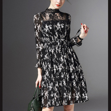 Long Sleeve Printing Women Dresses