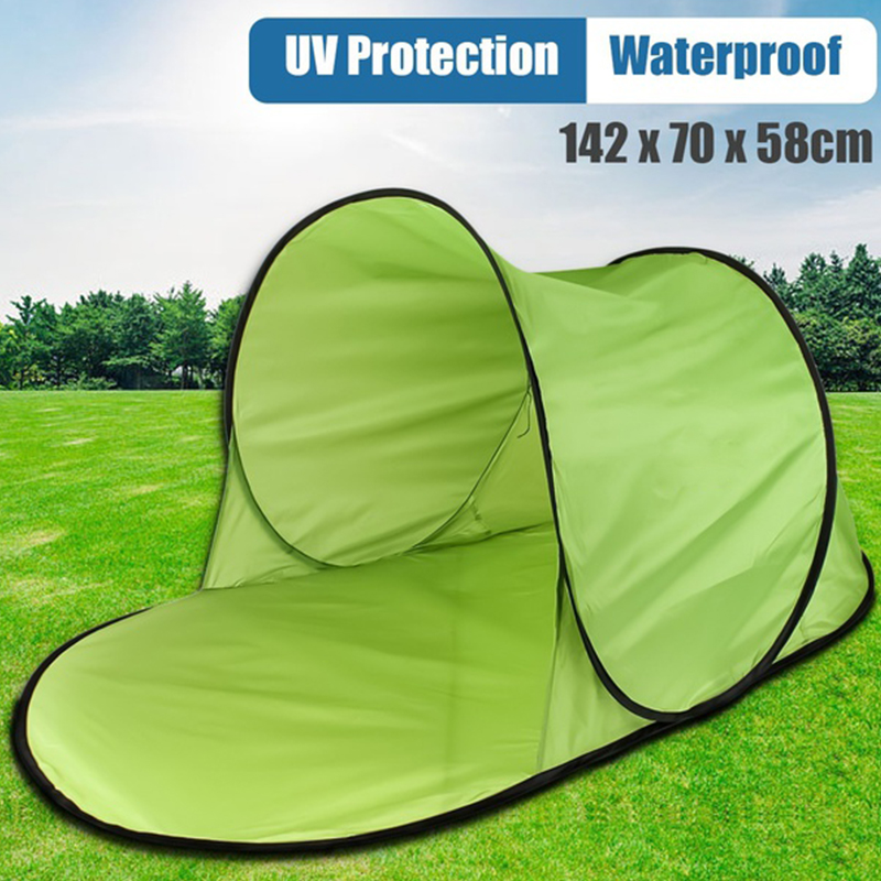 Automatic Portable Tent UV Beach Camping Tent Pop Up Open Beach Mat Folding Automatic Anti-UV Fully Sun Shade Hiking Beachs image