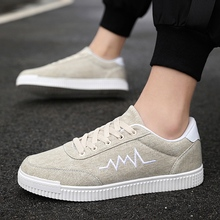 Fashion summer mens casual shoes comfortable flat canvas classic hot sale