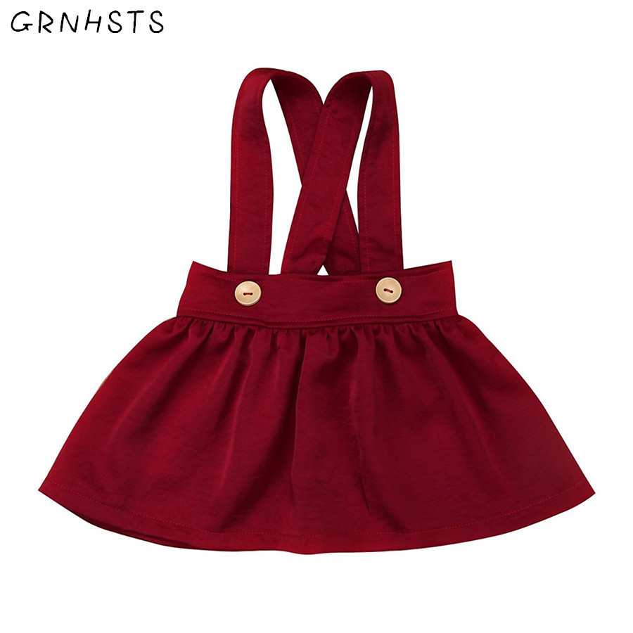 GRNSHTS Baby Little Girl Clothing Buttons Knee Length Suspender Overall Outfit Brace Summer Dress Clothes Set