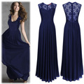 Women's Elegant Sleeveless Halter Flroal Lace Bridesmaid Maxi Dress lace pregnant women maternity dress long maternity dress349